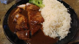 黑椒雞排飯@茶記