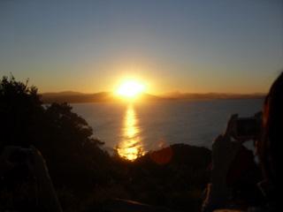 日落在Byron Bay