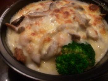 石頸芝士焗蘑菇雞夫扒飯
