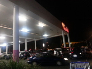 聖誕購物夜-停車場