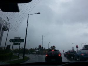 大雨中的Brisbane